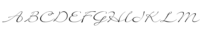 Quilline Script Thin Font UPPERCASE