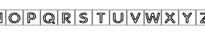 Quilted Indian Font UPPERCASE