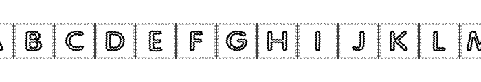 Quilted Indian Font LOWERCASE