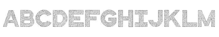 QuiltedStippled Font UPPERCASE