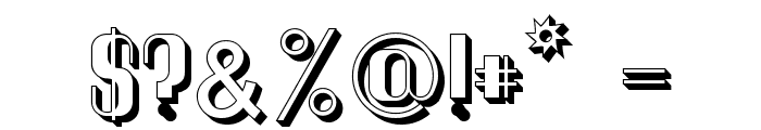Quimbie 3D Font OTHER CHARS