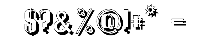 Quimbie Shaddow Font OTHER CHARS
