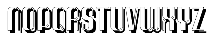 Quimbie Shaddow Font UPPERCASE