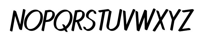 Quincaille Italique Font UPPERCASE