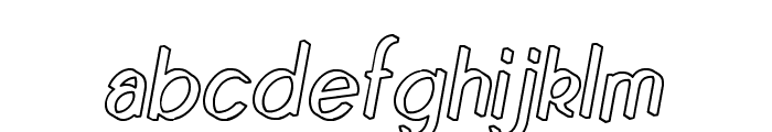 Quincaille Outline Italique Font LOWERCASE