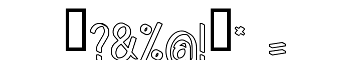 Quincaille Outline Font OTHER CHARS