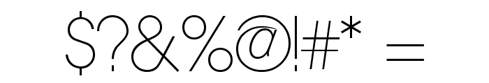 Quinfo-ExtraLight Font OTHER CHARS