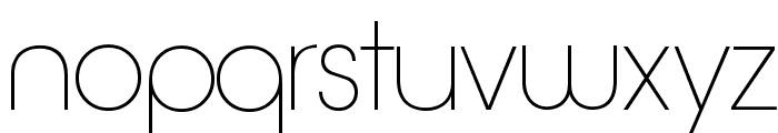 Quinfo-ExtraLight Font LOWERCASE