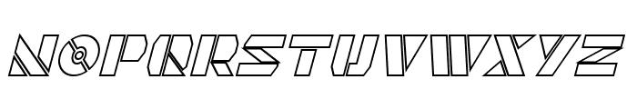 Quintanar Hollow Italic Font LOWERCASE