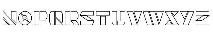 Quintanar Hollow Font UPPERCASE