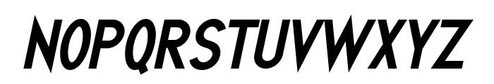 Quirkus Bold Italic Font UPPERCASE
