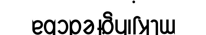 Quirkus Upside Down Font LOWERCASE