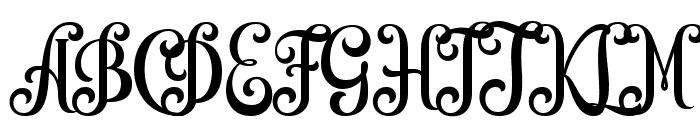 Quiska Font UPPERCASE