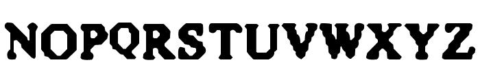 Quite Blunt Font LOWERCASE