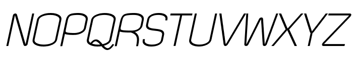 Quizma Light Italic Demo Font UPPERCASE