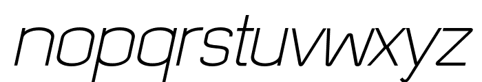 Quizma Light Italic Demo Font LOWERCASE