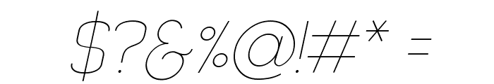 Quizma Thin Italic Demo Font OTHER CHARS