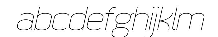 Quizma Thin Italic Demo Font LOWERCASE