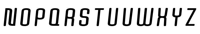 Quota Bold Italic Font UPPERCASE