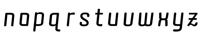 Quota Bold Italic Font LOWERCASE