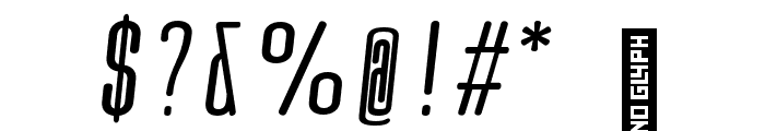Quota Regular Italic Cond. Font OTHER CHARS