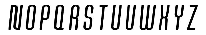 Quota Regular Italic Cond. Font UPPERCASE