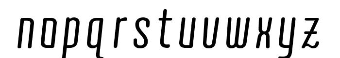 Quota Regular Italic Cond. Font LOWERCASE