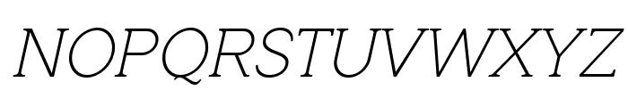 QuotusThin-Italic Font UPPERCASE