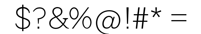 QuotusThin Font OTHER CHARS