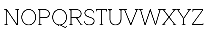 QuotusThin Font UPPERCASE