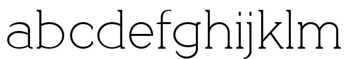QuotusThin Font LOWERCASE