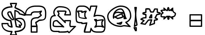 Quropa Hollow Font OTHER CHARS