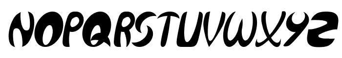 Qurve Thin Italic Font UPPERCASE