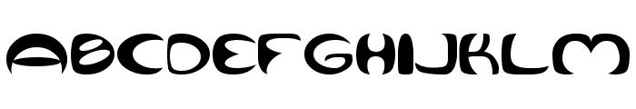 Qurve Wide Font UPPERCASE