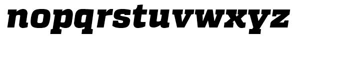Quadon Black Italic Font LOWERCASE