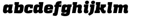 Quadon Heavy Italic Font LOWERCASE