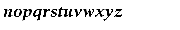 Quant Text Bold Italic Font LOWERCASE