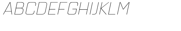 Quarca Extended Thin Italic Font UPPERCASE