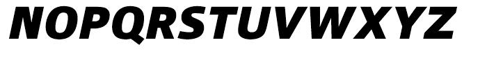 Qubo Black Italic Font UPPERCASE