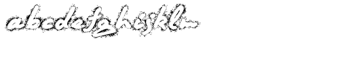 Quendel Fingertip Font LOWERCASE