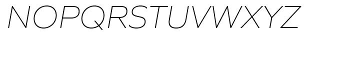 Quiet Sans Extra Light Italic Font UPPERCASE