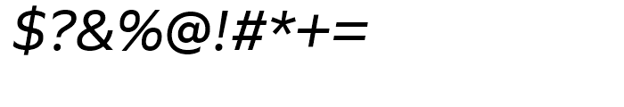 Quiet Sans Italic Font OTHER CHARS