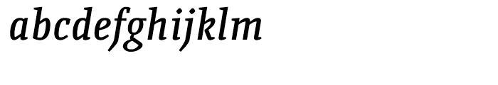 Quiroga Serif Pro DemiBold Italic Font LOWERCASE