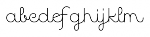 Quaderno Noodle 20 Font LOWERCASE