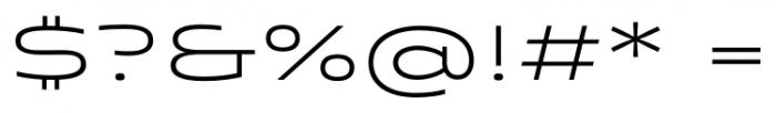 Quantum Light Font OTHER CHARS