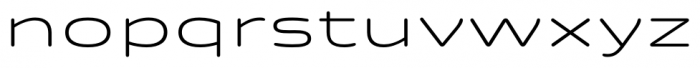 Quantum Rounded Light Font LOWERCASE