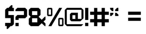 QueueBrick Closed Bold Font OTHER CHARS