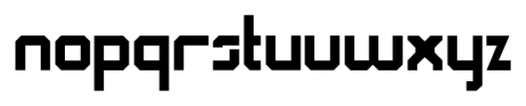 QueueBrick Closed Bold Font LOWERCASE