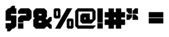 QueueBrick Closed Ultra Font OTHER CHARS