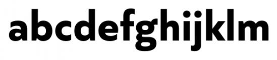Quiet Sans Bold Font LOWERCASE
